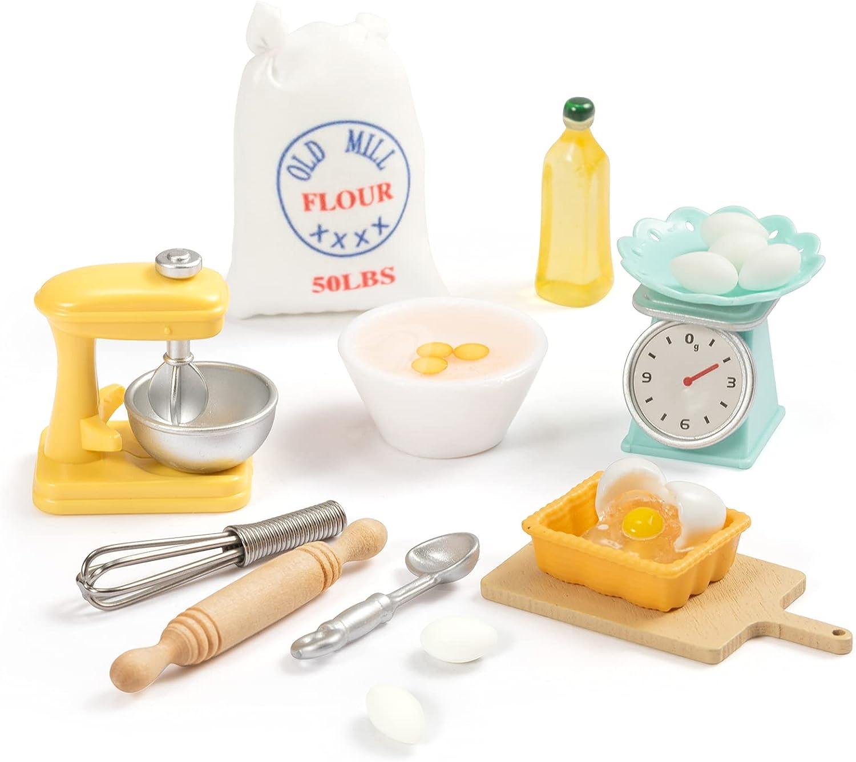 SAMCAMI 1 12 Las Vegas Mall Scale Dollhouse Accessories Pieces Kitchen - Set 15 Quantity limited