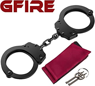 GFIRE Handcuffs Double Lock Handcuffs Steel Mental Handcuffs with Keys Perfect for Training and Daily Use