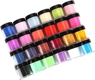 HitHopKing 24 Colors Acrylic Powder Set for Nail Art 3D DIY Tips decoration