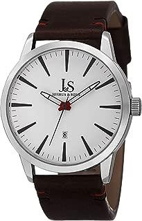 Joshua & Sons Men's White Dial Leather Band Watch - Js86Ssbr, Multi-Color