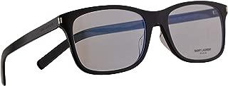 SL288/F Slim Eyeglasses 55-18-150 Shiny Black w/Demo Clear Lens 001 288F SL288 SL 288/F