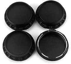 67mm/62mm Car Wheel Center Caps Hubcaps Set of 4 Matt Black ABS for Volk Racing Wheels