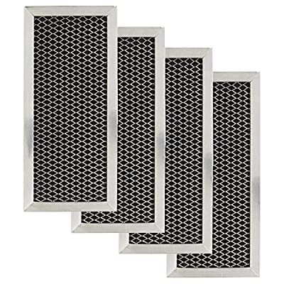 GE JX81H, WB02X10956, WB02X11544 Microwave Recirculating Charcoal Filter Compatible with GE WB2X10956 (4-Pack)