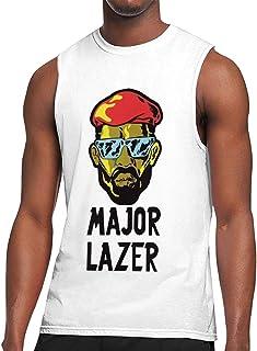 Major Lazer メジャー?レイザー タンクトップ メンズ Tシャツ ノースリーブ スポーツ トレーニングウェア インナーシャツ 吸汗 速乾 大きなサイズ