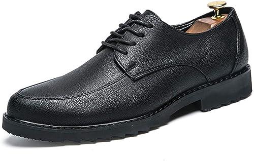 Willsego Chaussures pour Hommes d'affaires Oxford Décontracté Décontracté Simple tête Ronde Classique Formelle Chaussures résistant à l'abrasion (Couleuré   Noir, Taille   6 UK)  magasin d'usine de sortie
