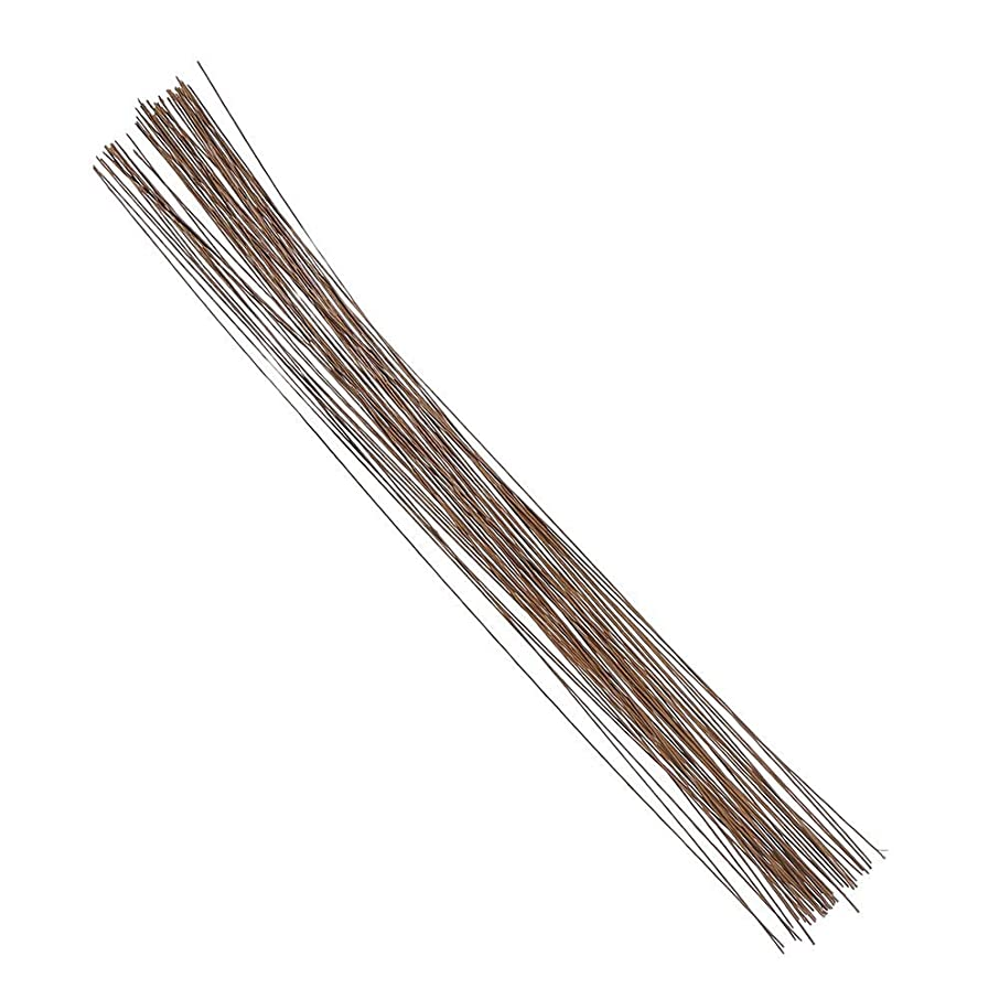 Decora 26 Gauge Brown Floral Wire 16 inch,50/Package