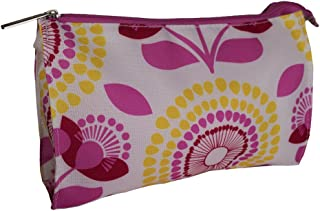 Clinique Retro Flowers Cosmetic Make Up Travel Hand Bag