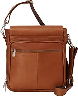 Piel Leather Double Loop Tablet Carry-all, Saddle