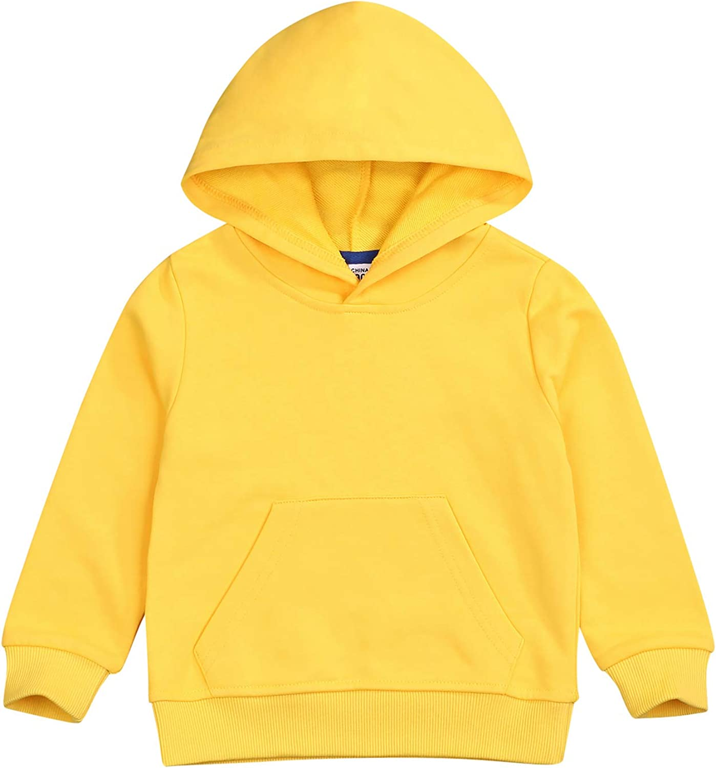 Baby Sweatshirt 1-6 Years Kids Toddler Boy Girl Long Sleeve Solid Hooded Casual Tops Pullover Fall Winter