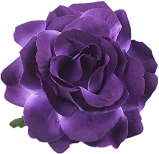 purple flower hair accessories