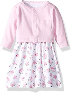 Luvable Friends Baby and Toddler Girl Dress and Cardigan