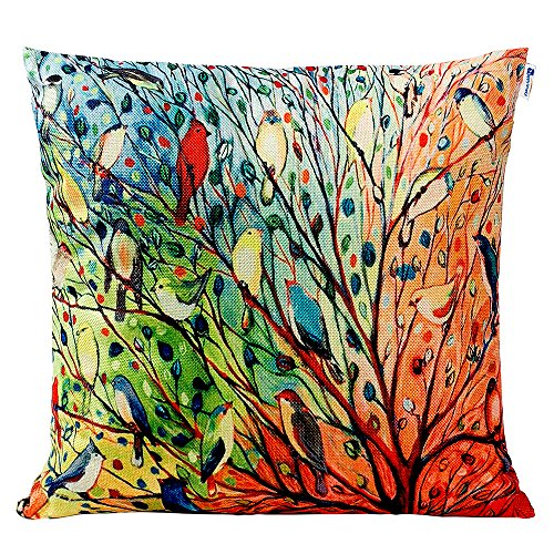 Best Multicolored Pillow Case with Birds