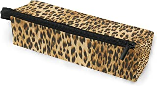 Toprint Animal Leopard Print Glasses Bag Pouch Portable Travel Zipper Light Sunglasses Case Pencil Case Cosmetic Bag