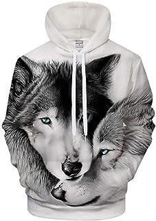 Hoodie Coat Lovers Wolves 3D Hoodies Men Tracksuit Funny Hoody Sweatshirt Pullover Hoodie Hooded Coat Women