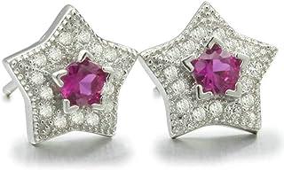 Women Earrings Silver Plated Star Shape Ear Studs Women's Earrings Novelty Jewelry Dangler/Silver