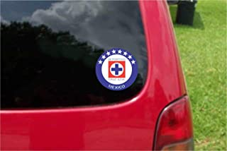 Set (2 PCS) Cruz Azul La Maquina Futbol Mexico Decals Stickers Full Color/Weather Proof (3