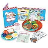 Learning Resources Serve It Up! Play Restaurant, Pretend Restaurant Set, 35 Pieces, Ages 3+