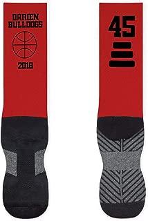 Basketball Mid-Calf Socks   Custom Team Name & Number   Assorted Colors