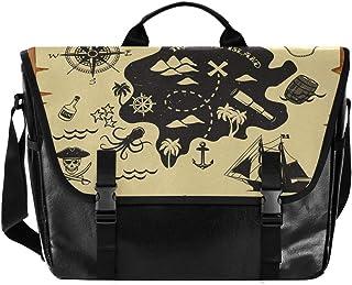 Bolsa de lona para hombre y mujer, diseño de mapa de navegación, estilo retro