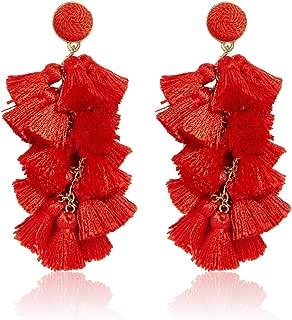 Fringe Chandelier Earrings for Women Tassel Statement Drop Dangle Earrings Lightweight Elegant Ladies Party Daily Dress Accessory