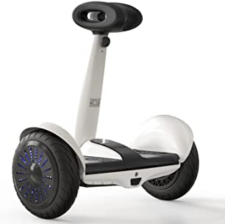 اسکوتر برقی Hiboy Self-Balancing with Steering Bar ، Smart J5 Hoverboards with APP Control ، سفید و مشکی