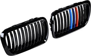 Compatible with 97-99 BMW E36 3-series 318i 323ic 328i 323i Front Center Kidney Grille Grill (Glossy Black + M Color)