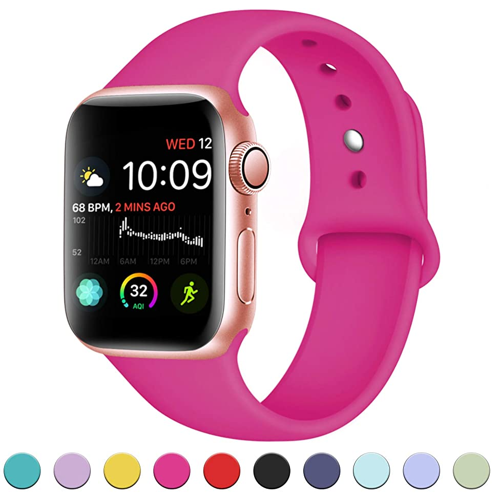 DaQin Band Compatible with Apple Watch 38mm 42mm for Women and Men, Sport Replacement Wristbands for iWatch Series 3 Series 2 Series 1, S/M, M/L