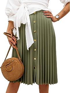 Byinns Women's Short Sleeve Tops Cold Shoulder Irregular Hem Blouse with V Neck Casual Tunic Tee Button Décor