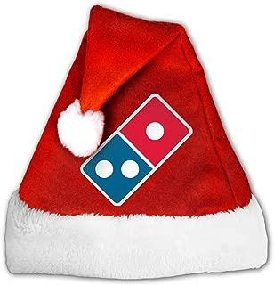 Domino€s Pizza Logo Velvet Santa Hat For Adult Or Children With Comfort Liner