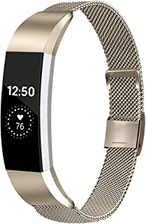 Meliya Replacement Metal Bands Compatible with Fitbit Alta/Fitbit Alta HR, Stainless Steel Metal Replacement Wristbands for Women Men
