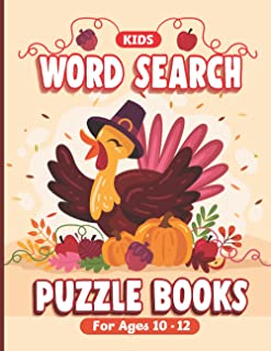 Kids Word Search Puzzle Books For Ages 10-12: A Fun Way to Develop Skill- Thanksgiving Design