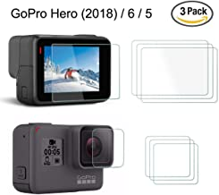 Screen Protector for GoPro Hero 5 (Screen and Lens), YSSHUI 3 Pack (6 Pcs) Anti-Scratch Anti-Glare Waterproof Hero5 Tempered Glass Film Accessory