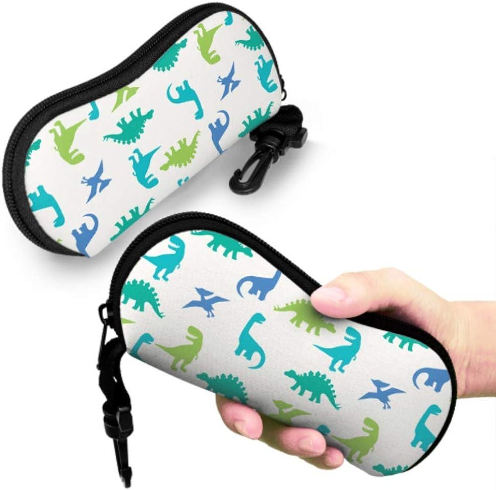 Child Dinosaur Baby Love Colorful Eyeglass Case Man Glasses Case Light Portable Neoprene Zipper Soft Case Soft Eyeglass Cases For Women