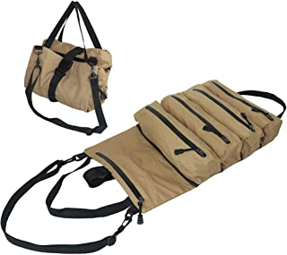 Super Roll Tool Roll, Roll Up Tool Pouches, Waxed Canvas Tool Tray, Tool Roll Carrier, Wrench Tool Bags, Bucket Organizer...