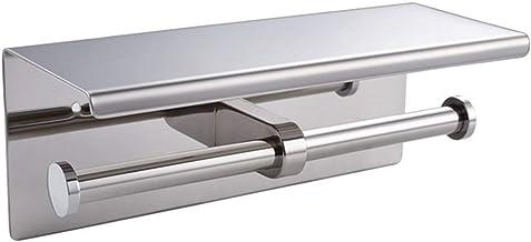WC Double Roll Tissue vloeihouder Wall Mount SUS304 roestvrij staal, chroom/geborstelde afwerking