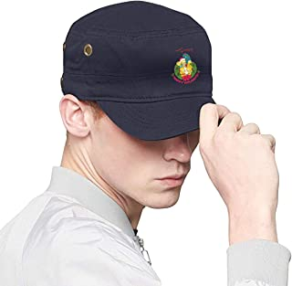 The Simpsons Springfield Bart Simpson Unisex Adult Washed Denim Cotton Military Army Cadet Cap Flat Top Hat Vent Eyelet Black