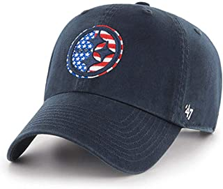 '47 Authentic MLB/NFL Navy Salute to Service, Spangled Banner, Memorial Day, Patriot, Clean Up Strap Back Cap Hat - OSFM