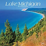 Lake Michigan 2021 12 x 12 Inch Monthly Square Wall Calendar, USA United States of America Travel Scenic Great Lakes