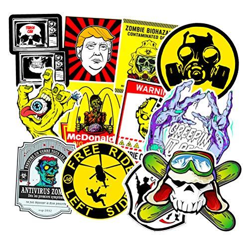 Totenkopf-Aufkleber, Zombie-Serie, Laptop, Totenkopf, Aufkleber, Bombe, Wasserflasche, Gepäck, Fahrrad, Computer, Skateboard, Vinyl-Aufkleber, 50 Stück