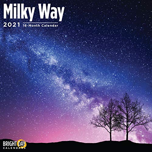 2021 Milky Way Wall Calendar by Bright Day, 12 x 12 Inch, Outer Space Star Planet Galaxy