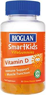 Bioglan SmartKids Vitamin D | Immune Support | Muscle Support | 30 Gummies