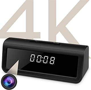 WAYMOON 4K Hidden Spy Camera Wireless Hidden WiFi Clock Camera Home Security Nanny Camera with Night Vision,160 Ultra Wide...