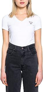 Guess Donna T-Shirt Logo Frontale Bianco Mod. W1GI17 J1311 XS
