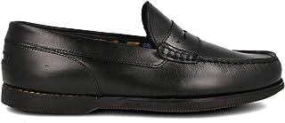 PAYMA - Chaussures Bateau Mocassin de Sport en Cuir pour Hommes. Grandes Pointures 46 47 48. Cuir huilé. Semelle en Caoutc...