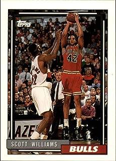 1992-93 Topps Basketball #309 Scott Williams Chicago Bulls Official NBA Trading Card