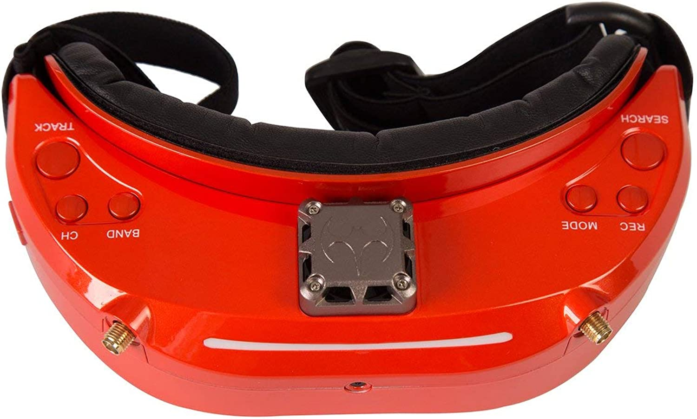 Bibipangstore 5.8GHz 48CHダイバーシティFPVゴーグル、ファン付きDVRフロントカメラサポートHDMIドローン用HDMIヘッドトラッキング