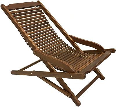 リラックスチェア イス 椅子 いす 座椅子 チーク 折りたたみ