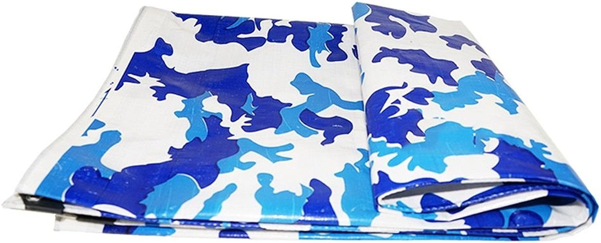 Bache Toile de bache Camo Bleu Marine imperméable à l'eau de Prougeection Solaire bache Tricycle Ombre au Soleil bache auvent bache Tissu, épaisseur 0.5mm, 220g   m2, 10 Options de Taille