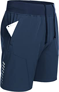 COOFANDY Men's Workout Running Shorts Quick Dry Gym Athletic Shorts Training Bodybuilding Jogger with Zipper Pockets