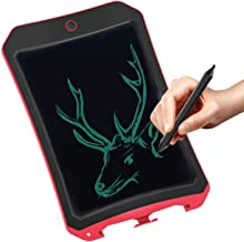 JRD&BS WINL LCD Writing Tablet forBirthday Gift,Kids Toy 8.5 Inch LCD Electronic Writings Pads Drawing Board Gifts for Kids Office Blackboard - Erase Button Lock Included(Red)